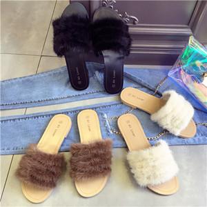 2017 Leadcat Fenty Rihanna обувь для женщин тапочки крытый сандалии девушки мода меховые слайды Звезда SWith Женская обувь