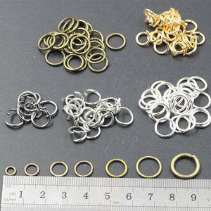 300PCS 6 * 0.7 mm de profundidad Anillos de salto Conectores abiertos Fabricación de joyas Encontrar
