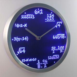 Wholesale-nc0461 Math Math Algebra Formula Mathematics Teacher gift Neon LED Wall Clock