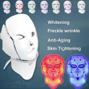 7 ColorS PDT LED Light Therapy Cara máscara para el cuello Dispositivo antienvejecimiento Terapia de rejuvenecimiento Tratamiento de arrugas Masajeador Relajación
