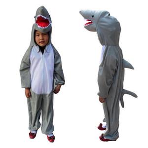 Niños niñas de dibujos animados de tiburón animal traje de cosplay para niños niños Cosplay mono Halloween disfraces decoración