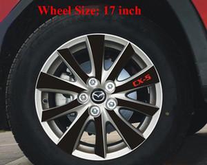 Etiqueta engomada del eje de la rueda de vinilo de fibra de carbono negro para MAZDA CX-5 CX5 2012 2013 Etiqueta externa Car Styling