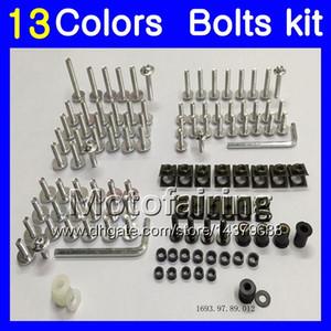 Kit de tornillo completo para tornillos de carenado Para KAWASAKI NINJA ZX9R 00 01 02 03 ZX-9R 9 R ZX 9R 2000 2001 2002 2003 Kit de tornillos para tuercas de tuercas de cuerpo 13 colores