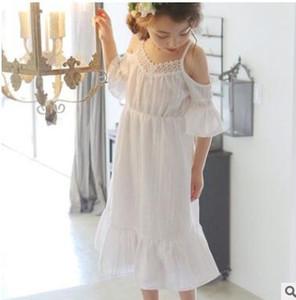 2017 nuovi bambini puro cotone manica jacquard lanterna principessa gonna abito da principessa abiti rosa con fodera