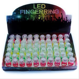 Luminoso anillo de diamante pequeño LED iluminado lindo anillo de luz LED pequeños regalos niños anillos pequeños juguetes de plástico Suministros de fiesta 1478