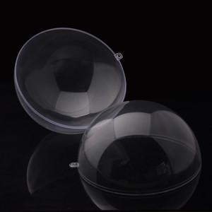 8 cm Effacer Décorations De Noël Boule Ouvertable Transparent En Plastique Boule Ronde Boules Arbre De Noël Ornement Festival Partie De Mariage Balles