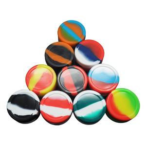 MOQ = 1 pz 22 ML grande rotondo contenitore in silicone, antiaderente Slick -Rich colori per concentrato cera FDALFGB stoccaggio alta qualità scatola olio titolare