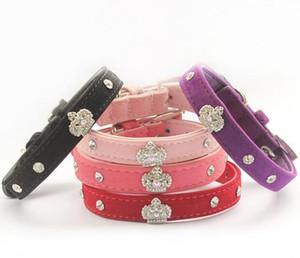 Armi store Rhinestone Crown Charm Decorazione Pet Dog Cat Collare Collari Principessa per Cani 6041024 Forniture di guinzagli per cuccioli G485