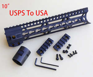 """Os recém-chegados material de alumínio Handguard 009A KEYMOD 10 """"/ 12"""" / 15 """"/ 17"""" ferroviário estocados em USA.Sent via USPS"""