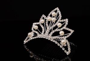 2016 Yeni Tasarım Kristal El Yapımı Trendy Gelin Taçları Tiara Düğün Saç Aksesuarı Parti Özel Durum Headwear High-end Headpieces