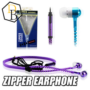 Nuevo Alta calidad3.5mm en la oreja Estéreo Universal Zipper Auriculares Auriculares Auriculares Con micrófono remoto para iPhone 6 Samsung s6 HTC LG Celular