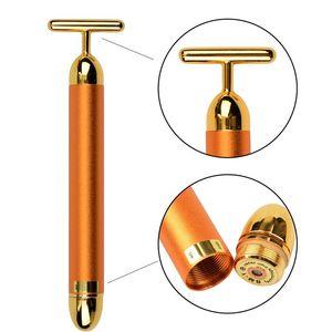 Face Lift Tightening Firming 24K Gold Face Skin Massage Roller Body Eye Massager Electric Vibrator Health Beauty for Women
