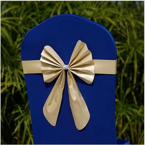 Eco-Friendly 25 * 85 centimetri in taffetà telai della sedia della sedia di banchetto della decorazione domestica Wedding del partito Bow 11Color possono scegliere il trasporto libero