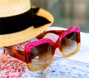 Yeni moda satan kadınlar tasarım kare kare en kaliteli popüler cömert ve zarif stili 0083s UV400 koruma gözlük güneş gözlüğü
