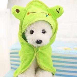 Al por mayor-Puppy Toalla de secado para mascotas Perro Toalla de baño Absorbente Ducha Albornoz Pijamas Mantas de limpieza de alta calidad Producto para mascotas 4