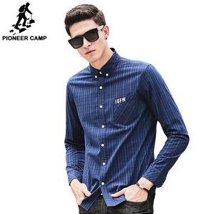 Wholesale- Pioneer Camp plaid Shirt Uomo manica lunga Nuovo marchio di abbigliamento Top quality slim fit designer moda uomo Camicia maschile 677179
