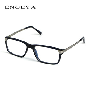 Wholesale- ENGEYA TR90 Clear Fashion Glasses Frame  Designer Optical Eyeglasses Frames Men High Quality Prescription Eyewear #134-1#