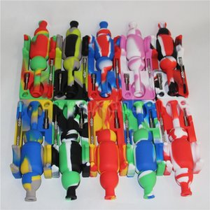 Sıcak Satış Mini silikon nektar toplayıcılar ile 10mm erkek ti tırnak ve SiliNectar logosu Silikon Yağ Davul Olmadan dabber DHL Üzerinden