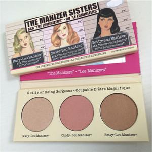 Yeni Lady Manizer Sisters Cindy-lou Mary-Lou Betty-Lou 3 renk Bronzlaştırıcılar Fosforlu paletler DHL ücretsiz kargo