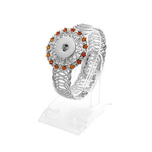 Yeni Moda 18mm Düğme noosa Paslanmaz Çelik Bilezik Takı Sapanlar Stil DIY Yapış Düğmeler Için renkli kristal bileklik Bilezikler