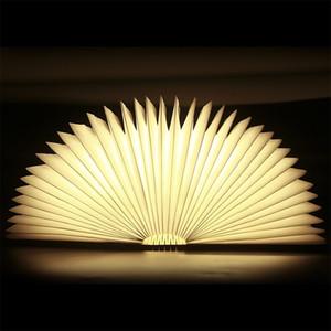 USB 재충전 용 나무로되는 접히는 LED 밤 빛 책 빛-2500mAh 리튬 건전지 책상용 램프, 사용법 8 시간까지 자석 테이블 램프