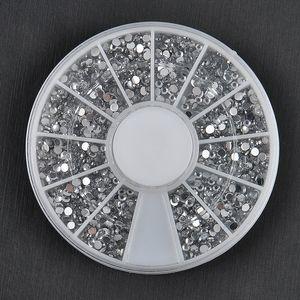All'ingrosso-1700 PCS 1.5mm 3D Fai da te Nail Rhinestones Glitter Diamond Gems Nail Tips Nail Art bellezza decorazione ruota NA997