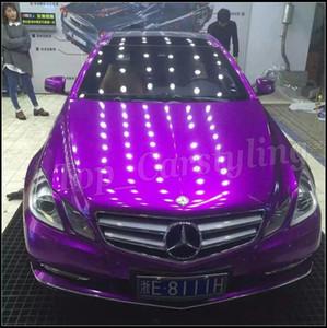 Фиолетовый глянец конфета Vinyl CAR WRAP FILM с воздушным каналом МЕТАЛЛИК фиолетовых наклеек Автомобилем стилизация FOILE Размер 1.52x20m / Ролл