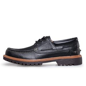 Big Size Men Boat Shoes Genuine Leather Mens Classic Shoes Spring Autumn Men Leather Footwear 6#20 20D50
