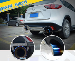 Chrome 304 Stainless Steel Exhaust Tip Tail Pipe Muffler For MAZDA CX-5 CX5 2012-2015 End Pipes Exterior Accessories Car Styling