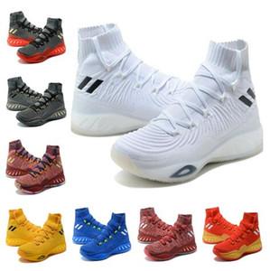 2017 сумасшедший взрывной 17 Primeknit Кристалл Белый баскетбол обувь для продажи взрывной загрузки бесплатная доставка us7-us12