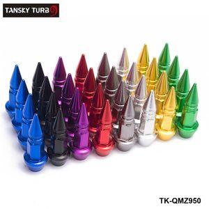 Tansky -4pcs / مجموعة سبايك شكل السيارات دراجة الإطارات صمام كاب صمام الجذعية قبعات عجلة الحافات العروة المكسرات TK-QMZ950