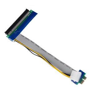 Esnek PCI-E Express 1x 16x Yükseltme Kartı Şerit Genişletici Uzatma Kablosu Kartı Ile Molex Güç 15 CM 30 CM