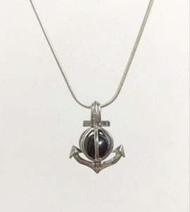18KGP Anker Cage Medaillons, Wunsch Perle / Gem Beads Anhänger Halterungen für DIY Mode Schöne Nette Schmuck Charms