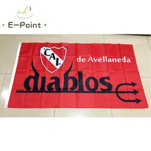 Arjantin Kulübü Atlético Independiente 3 * 5ft (90 cm * 150 cm) Polyester bayrak Afiş dekorasyon uçan ev bahçe bayrağı Şenlikli hediyeler