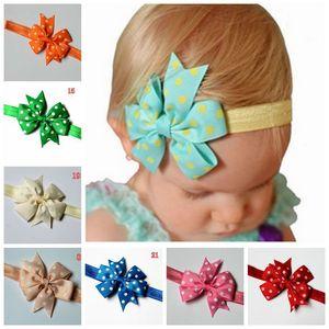 2017 USA Heißer Verkauf Baby Mädchen Stirnband Neugeborenen Stirnbänder dot Band Schwalbenschwanz Schmetterling Stirnband Haarschmuck Fabrik Preis