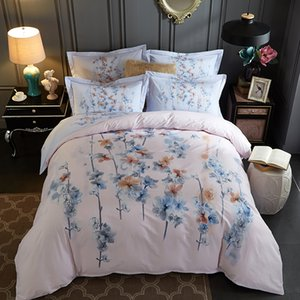 100% Baumwollstoff Bettwäschesatz Bettdecke Bettlaken und pilliw Fall vier Stück Stoff Cartoon Köper Weben entwirft mutural Farbe 1750012