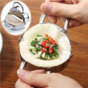 Venta al por mayor- Nuevos utensilios de pastelería ecológicos Acero inoxidable Fabricante de la bola de masa hervida Wraper Dough Cutter Ravioli Dumpling Mold Accesorios de cocina