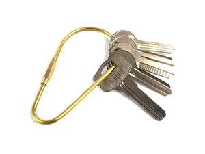 Retro Handmade Brass Alloy EDC Keychain - Gourd Shape Classic Key Ring Chain Holder EDC Camping Simple Creative Tools