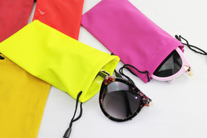 Best Selling 18*9cm waterproof sunglasses pouch soft eyeglasses bag glasses case many colors mixed fee shipping WA1478
