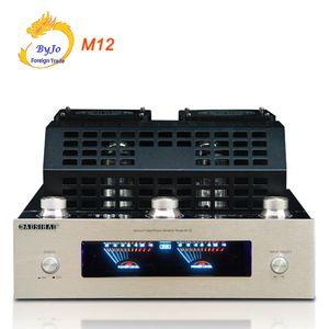 M12 HI-FI Amplificador de tubo Bluetooth 110 V y 220 V Compatibilidad con tarjeta USB SD Reproducción Bluetooth Amplificador de potencia compatible con 220 V y 110 V