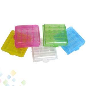AA / AAA / 14500/10440 Batterie-Vorratsbehälter Batteriehalter Kunststoff-Batterie-Aufbewahrungskoffer-Box-Tragebox DHL-frei