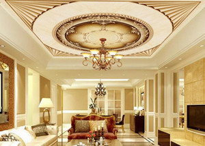 пользовательские 3d потолочные обои европейский стиль великолепный 3d потолочные фрески обои гостиная спальня потолок обои
