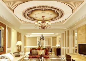 Papel tapiz de techo 3d personalizado estilo europeo murales de techo magníficos 3d wallpaper sala de estar dormitorio papel tapiz de techo
