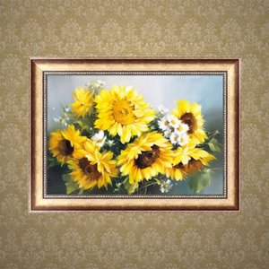 Home Decor DIY 5D Embroidery Painting Sunflower Cross Stitch Needlework Mosaic Diamond Cube 2016
