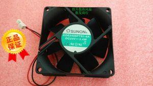 SUNON 8025 DC24V 3.4W KDE2408PTS1-6A 2 wire inverter 8CM cooling fan