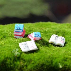 1 Pcs Livre Mots DIY Résine Fée Jardin Artisanat Décoration Miniature Micro Gnome Terrarium Cadeau F0036
