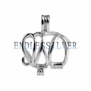 Желая Pearl Cage кулон стерлингового серебра 925 подарок ювелирные изделия слон животных Подвеска Подвеска для Жемчужина партия