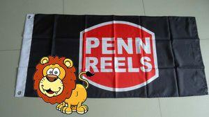 penn reels flag, corpenn reels banner,90X150CM size,100% polyster 100% polyester 90*150cm