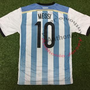 2014 COUPE DU MONDE ARGENTINE MESSI AGUERO HIGUAIN DI KUN MARIA MARADONA Thaïlande de qualité uniformes maillots de football Maillot de football camiseta futbol
