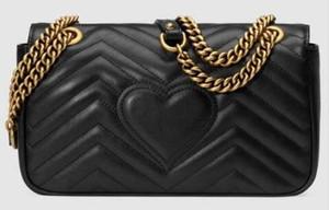 Couro clássico preto corrente de prata de ouro venda quente 2017 novas mulheres sacos bolsas sacos de ombro sacolas mensageiro